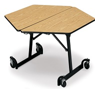 shape tables - Cafeteria Tables
