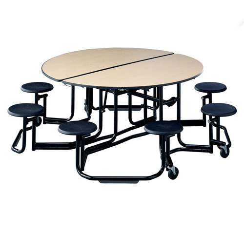 cafeteria tables mobile folding convertible stool seats round
