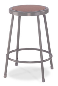 National Public Seating 6224 Round Hardboard Seat Stool 24 Inch