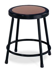 National Public Seating 6218-10 Black Round Hardboard Seat Stool