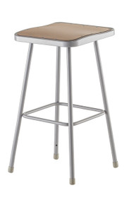 National Public Seating 6330 Square Hardboard Seat Stool 30 Inch