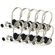 Califone 3064AV-10L Multimedia Stereo Headset Set of 10