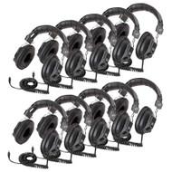 Califone 3068AV-10L Switchable Stereo/Mono Headphones Set of 10