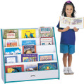 Jonti-Craft 3514JCWW Rainbow Accents Flush Back Pick A Book Stand