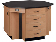 Stevens Industries 84070 K36 4 Student Octagon Island Table
