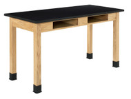 Diversified C7106K30N Two Book Compartment Epoxy Resin Oak Science Table 24 x 48 Top 30 High