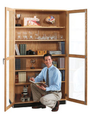 Diversified 358-3622 Tall Wall Storage Cabinet Double Glass Doors 36 x 84