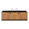Diversified 3246K Wall Service Bench with Storage Cabinets and 8 Large Drawers