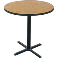 Allied TB36CR Cafe Table with Cross Base 36 Inch Round