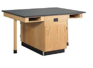 Diversified C2616KF Four Station Service Center Epoxy Resin Top No Fixtures and Full Cupboard