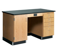 Diversified 1214KF Lab Instructors Desk 5 Ft with Phenolic Top and No Sink