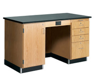 Diversified 1216KF Lab Instructors Desk 5 Ft with Epoxy Top and No Sink