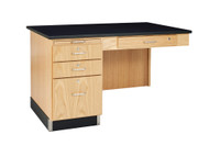 Diversified 1144K Lab Instructors Side Desk with Phenolic Top for 5ft and 8ft Desks
