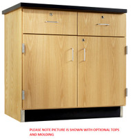 Diversified 106-3622 Solid Oak 36 W x 22 D Door and Drawer Cabinet Base