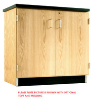 Diversified 103-3622 Solid Oak 36 W x 22 D Door Cabinet Base