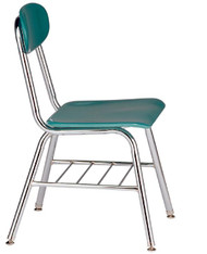 "Capitol 525 Legacy Chair with Book Rack 15.5"" Seat Height"