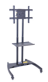 Luxor FP2500 Adjustable Height TV Stand with Shelf