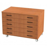 Wisconsin Bench SS1010 Five Drawer Paper Storage with Levelers