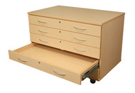 Wisconsin Bench SS1010-AC Five Drawer Paper Storage with Casters
