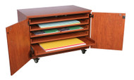 Wisconsin Bench SS1025 Roll Out Paper Storage with Doors