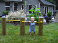 UltraPLAY EC-017 Wood Toddler Pull Up Bar