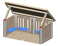 UltraPLAY EC-108 Wood Youth Shelter