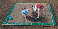 UltraPLAY EC-121 Wood Square Sandbox with Cover 10 Feet