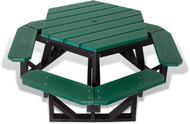 UltraSite 26-HEX Hexagon Recycled Picnic Table