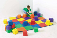 The Children's Factory CF322-047 Joey's Matching Mat & Block Set Primary Colors