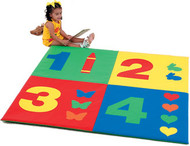 The Children's Factory CF362-161 Numbers 5ft Activity Mat in Primary Colors