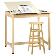 Shain DT-60SA-QS Drafting Table with Two Piece Adjustable Top