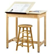 Shain DT-9SA30-QS Drafting Table with Two Piece Adjustable Top