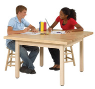 Shain WX4-M-QS Four Station Art Table 30H with Maple Top
