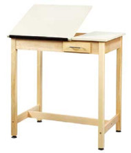 Shain DT-3A37 Drafting Table with Two Piece Adjustable Top