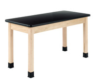 Diversified P7102M30N-QS Plain Apron ChemGuard Maple Science Table 24 x 48 Top 30 High