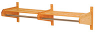 Wooden Mallet 72DCR Double Coat Rack 72