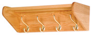 Wooden Mallet 24HCR 4 Hook Coat and Hat Rack