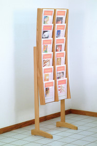 Wooden Mallet AC12-FS Free Standing Magazine Display