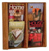 Wooden Mallet AC19-4 Four Pocket Wall Display