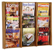 Wooden Mallet AC26-9 Magazine Wall Display 9 Pocket