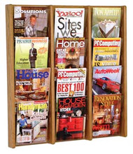 Wooden Mallet AC34-12 Magazine Wall Display 12 Pocket