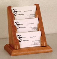 Wooden Mallet BCC1-3 Countertop Business Card Holder 3 Pocket