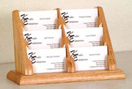 Wooden Mallet BCC2-6 Countertop Business Card Holder 6 Pocket