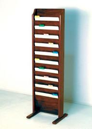 Wooden Mallet CH10-FS Freestanding File Folder 10 Pocket
