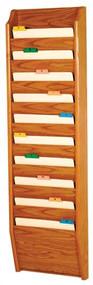 Wooden Mallet CH14-10 Wall Chart Holder 10 Pocket