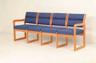 Wooden Mallet DW2-4D Valley Series Four Seat Sofa  Sled Base