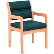 Wooden Mallet DW3-1D Dakota Wave Valley Series Guest Chair  Standard Base