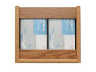 Wooden Mallet GBS11-2 Glove or Tissue Box Holder 2 Pocket Rectangle