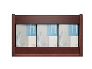Wooden Mallet GBS11-3 Glove or Tissue Box Holder 3 Pocket Rectangle
