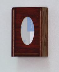 Wooden Mallet GBW11-1 Glove or Tissue Box Holder 1 Pocket Oval